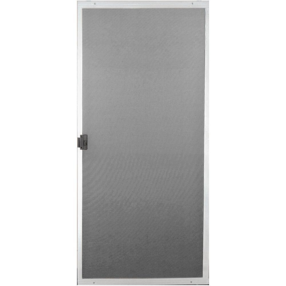 Screen Tight 30 In X 80 In White Patio Matic Screen Door Pat30wt