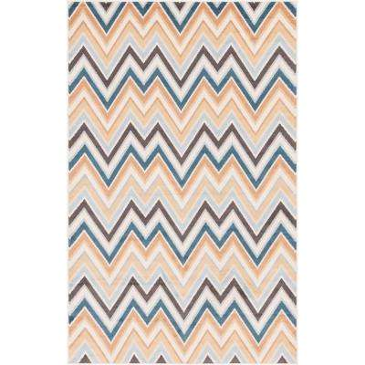 Multicolored Charge Outdoor Oasis 5' 0 x 8' 0 Area Rug