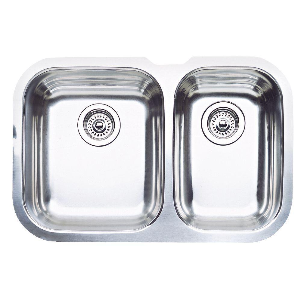 Niagara Undermount Stainless Steel 28 in. 1-1/2 Bowl Kitchen Sink