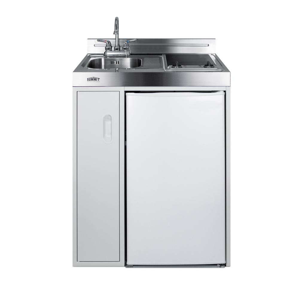Compact Kitchen: Summit Appliance 30 In. Compact Kitchen In White