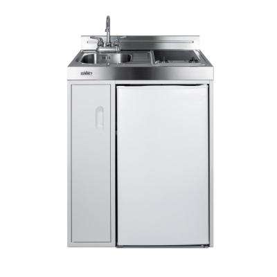 30 in. Compact Kitchen in White