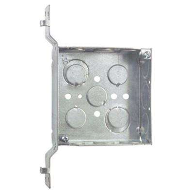 4 in. Steel Square Box with SV Bracket (Case of 25)