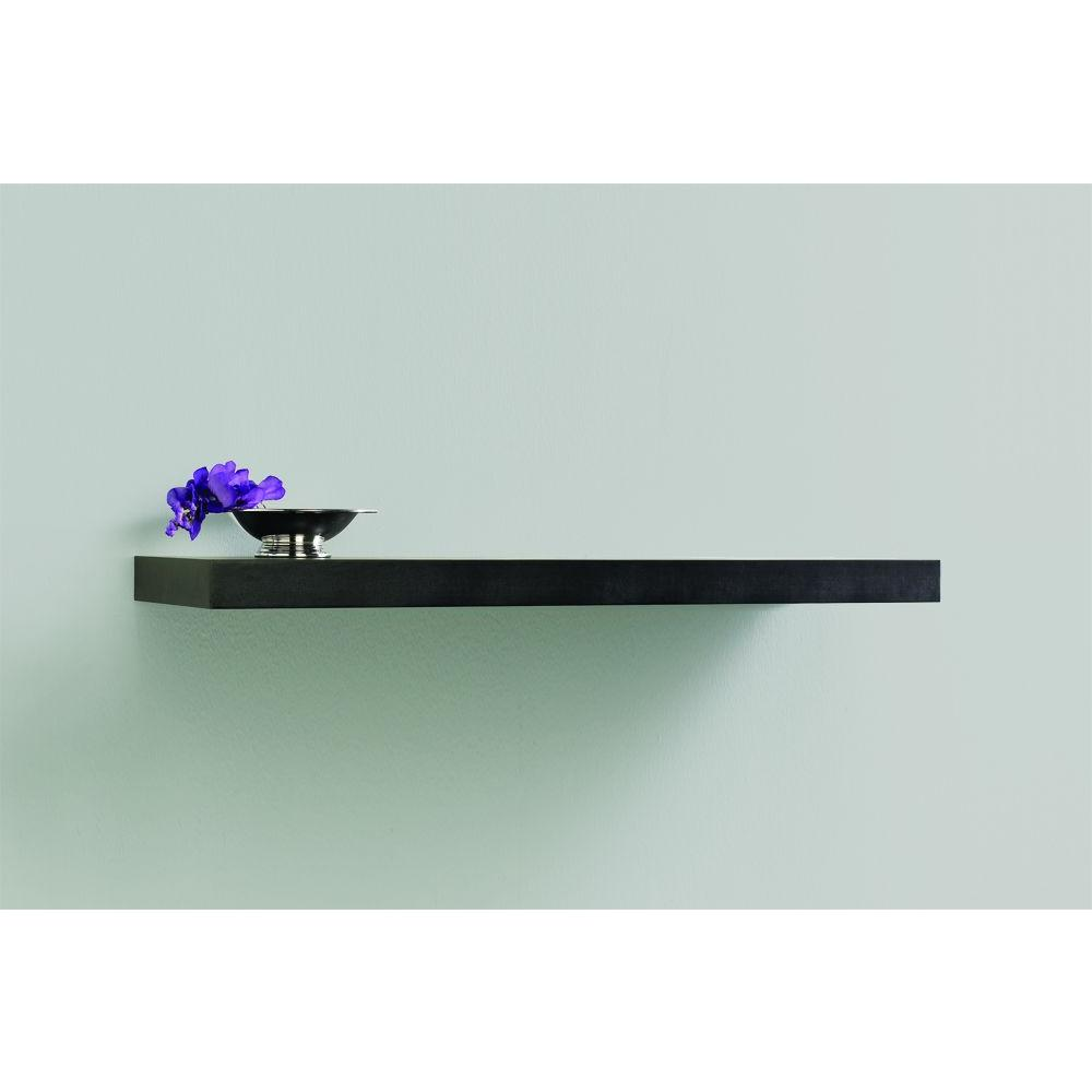 timeless design 13089 08558 Home Decorators Collection 35.4 in. L x 10 in. W Floating Espresso Shelf