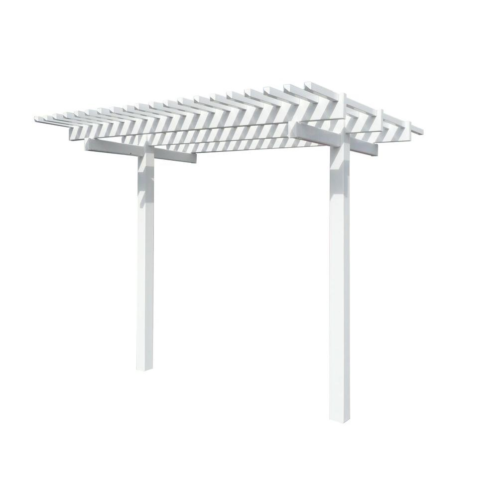 Duramax Building Products Newport 6 ft. x 8 ft. x 7 ft. Extendable Pergola