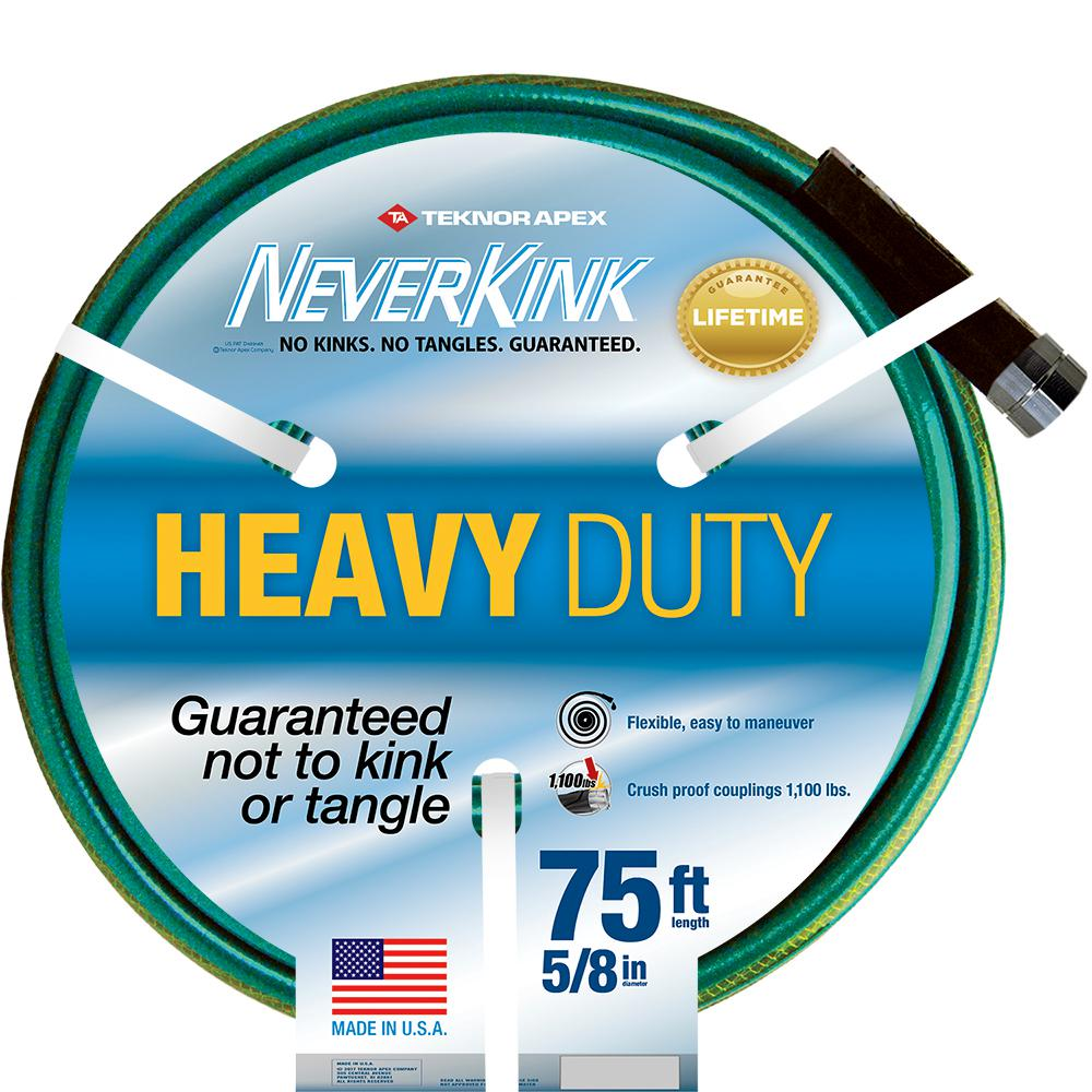 Neverkink 5 8 In Dia X 75 Ft Heavy Duty Water Hose 8605