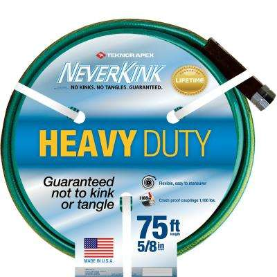 5/8 in. Dia x 75 ft. Heavy Duty Water Hose