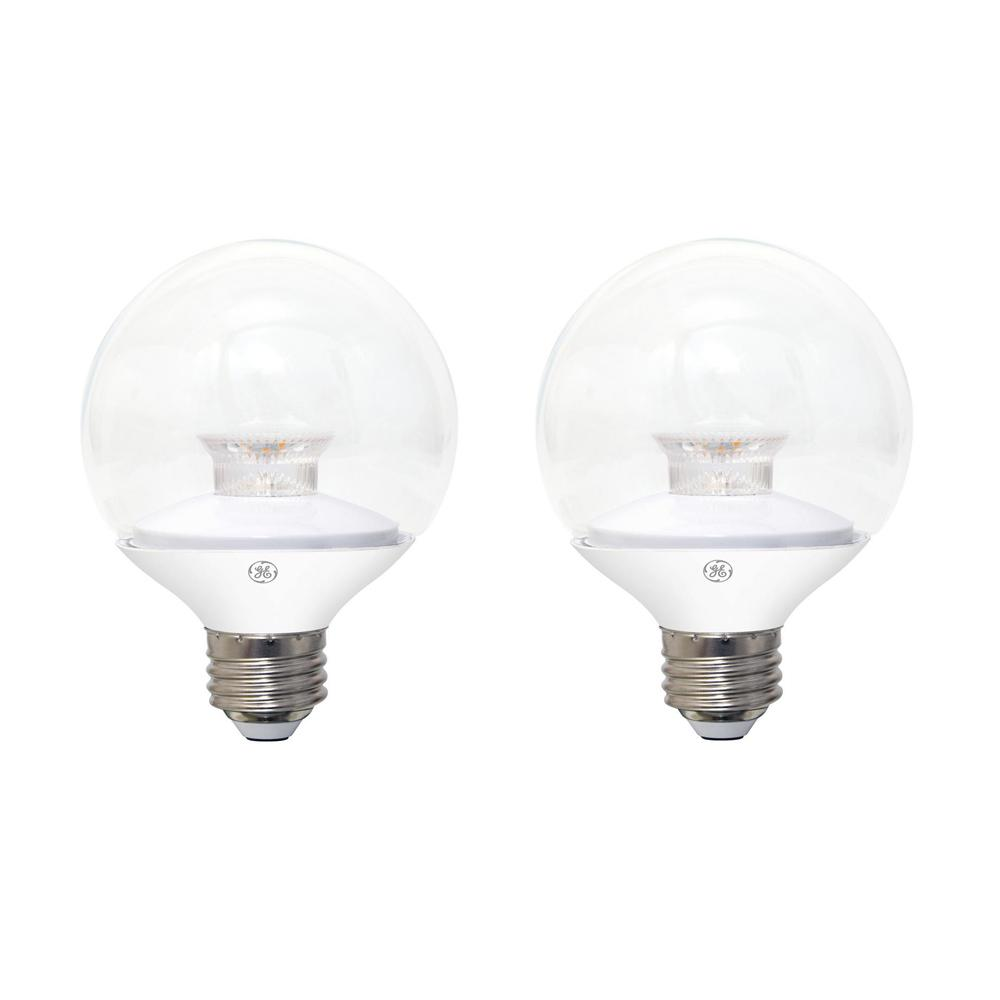 Bulbrite 40w Equivalent Amber Light G25 Dimmable Led: GE 40W Equivalent Soft White (2700K) High Definition G25
