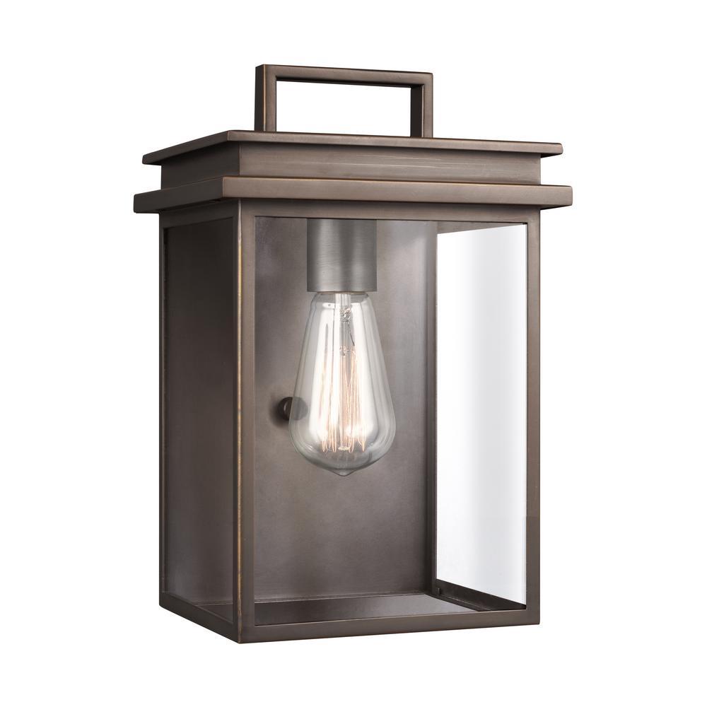 Glenview 1-Light Antique Bronze Outdoor Wall Lantern