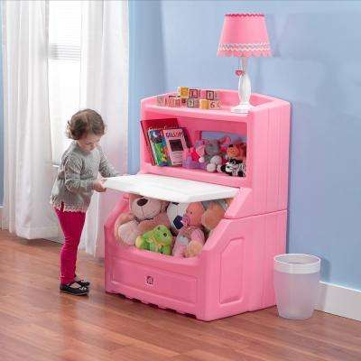Lift And Hide Pink Kidu0027s Storage Bookcase