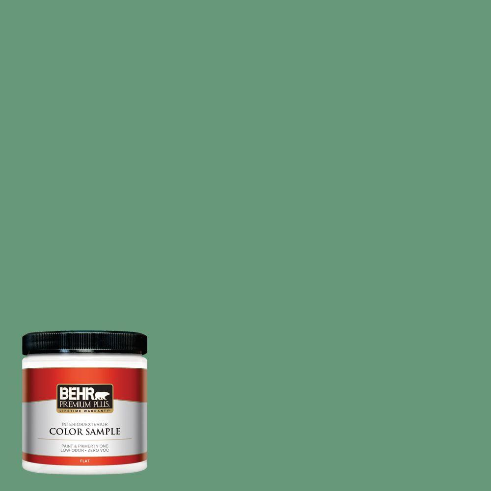 BEHR Premium Plus 8 oz. #470D-5 Herbal Interior/Exterior Paint Sample