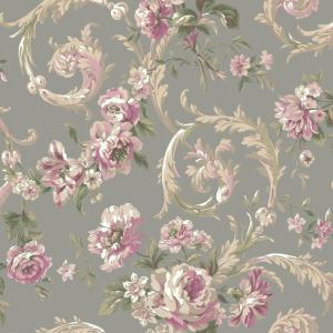 York wallcoverings shimmering topaz rococco floral - Floral wallpaper home depot ...