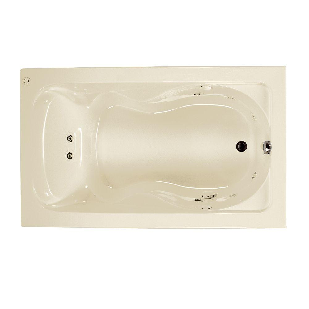 Cadet 60 in. x 36 in. Reversible Whirlpool Tub in Linen