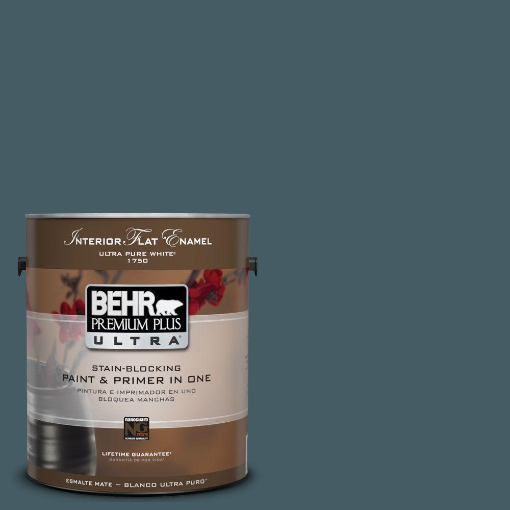 BEHR Premium Plus Ultra 1-Gal. #UL230-22 Observatory Interior Flat Enamel Paint