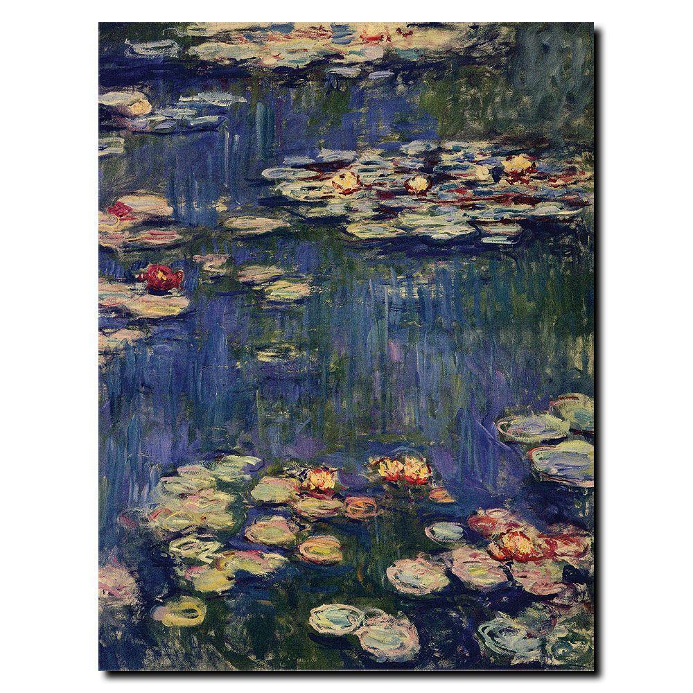 Trademark Fine Art 14 in. x 18 in. Water Lilies, 1914 Canvas Art