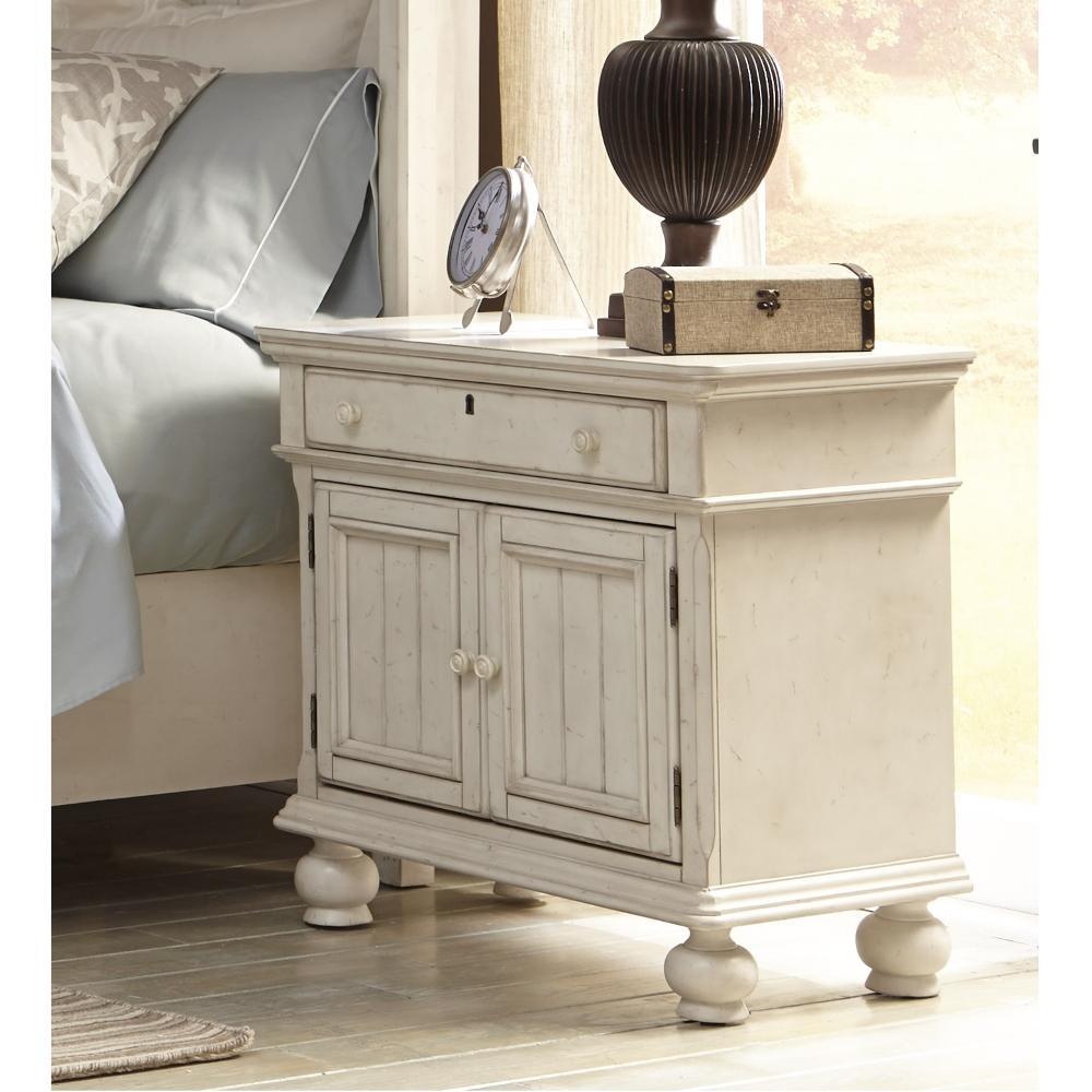 antique white nightstand. Internet #303960692. American Woodcrafters Newport 1-Drawer Antique White Birch Cabinet Nightstand D