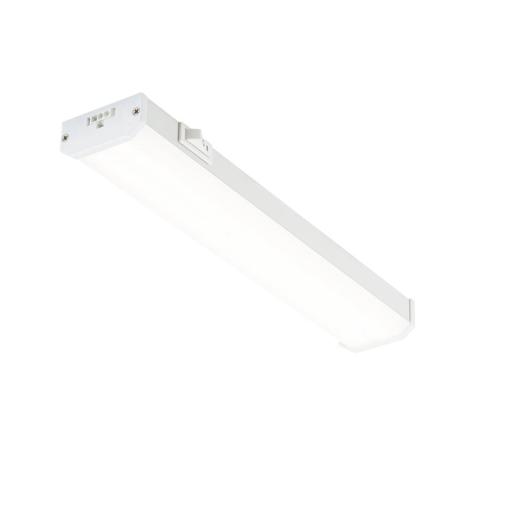 12 in. LED White Linkable Plug In Under Cabinet Light