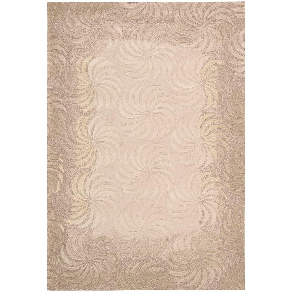 Nourison Pinwheels Taupe 3 ft. 6 in. x 5 ft. 6 in. Area Rug