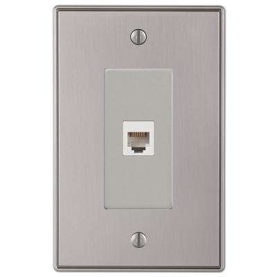 Ansley Cast 1 Phone Wall Plate - Brushed Nickel