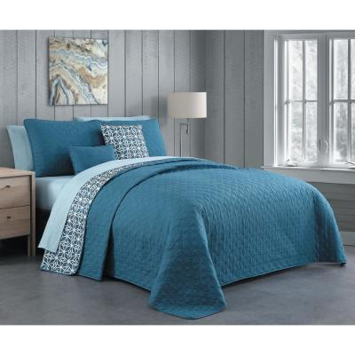 Lincoln 9-Piece Bluestone Queen Quilt Set