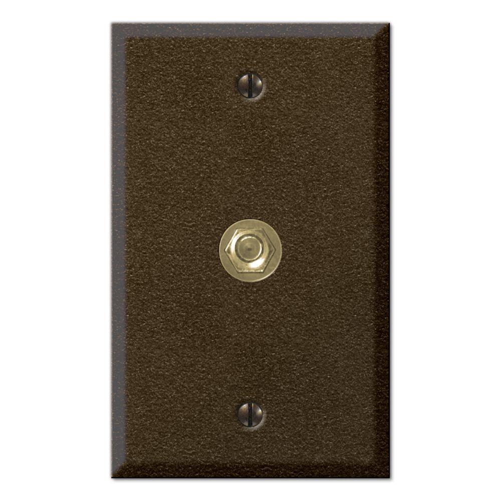 Creative Accents 1 Gang Toggle Steel Video Connector Decorative Wall Plate - Textured Bronze