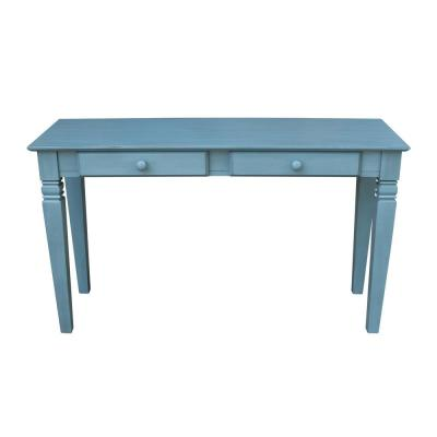 Java Ocean Blue Solid Wood Console Table