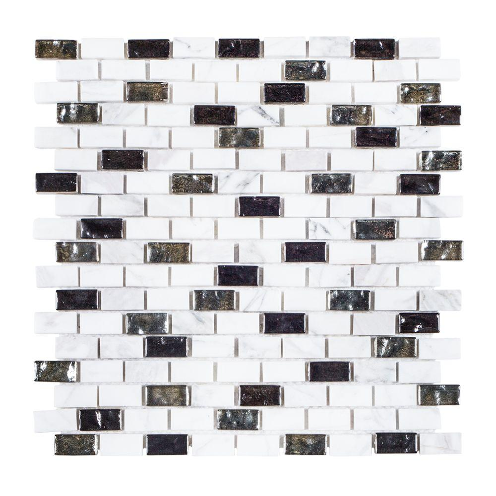 Jeffrey Court Polar Ice 11-3/8 In. X 12 In. X 8 Mm Stone