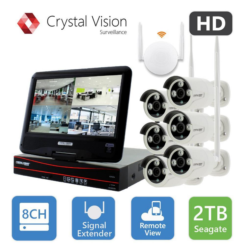 Crystal Vision 8-Channel True HD 2TB HDD Wireless Cctv wi...