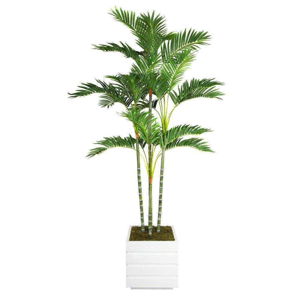 74 in. Tall Palm Tree in 14 in. Fiberstone Planter