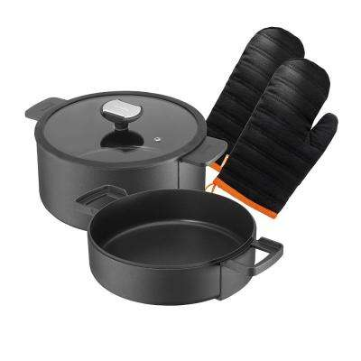 Double Round Multi-Functional 4-Piece Cookware Set