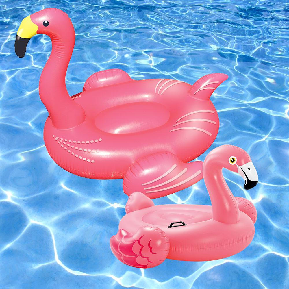 Swimline giant flamingo and ride on flamingo swimming pool for Pack swimming