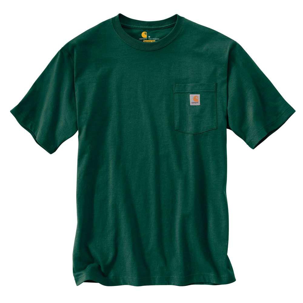 Men's Regular Large Hunter Green Cotton Short-Sleeve T-Shirt