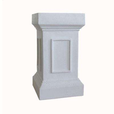 21.5 in. H Bright White Cast Stone Medici Pedestal or Planter