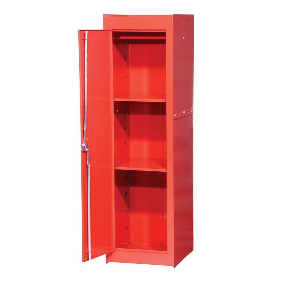 International Tech Series 15-3/8 in. 1-Shelf Full Side Locker, Red