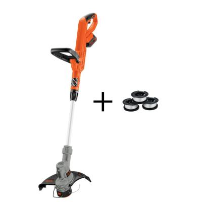 12 in. 20V MAX Lithium-Ion Cordless 2-in-1 String Grass Trimmer/Lawn Edger with Bonus 3-Pack of Spools Included