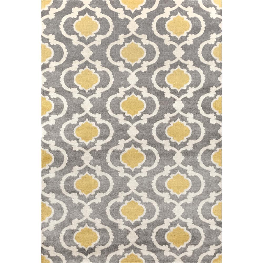 Moroccan Trellis Contemporary Gray/Yellow Indoor Area Rug