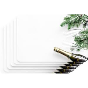 Holiday Themed in Champagne Printed Design Foam Placemat (Set of 6)