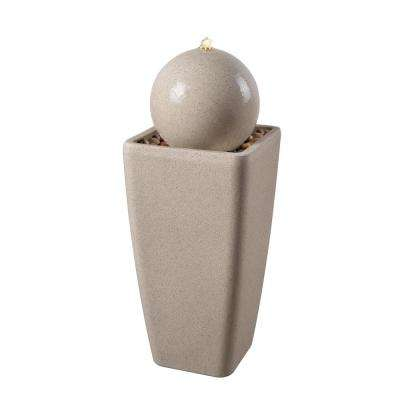 Snapdragon 30.5 in. White Sand Composite Floor Fountain
