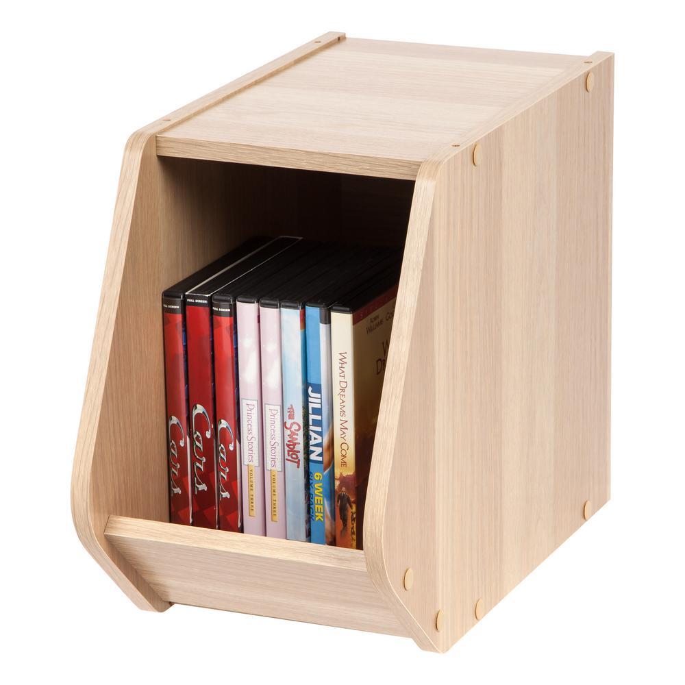 Modular Wood Stacking Open Storage Box