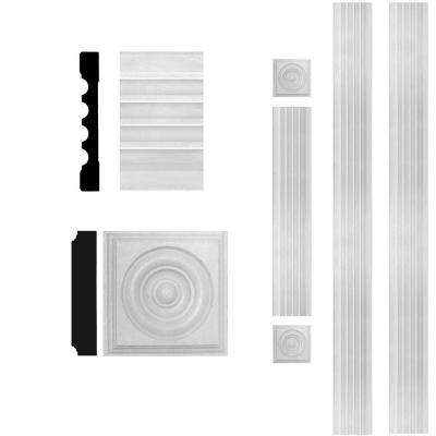 3/4 in. x 5-1/4 in. x 8 ft. MDF Fluted Door Casing Set
