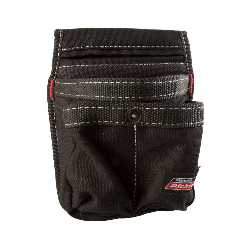 Dickies 4-Pocket Tool Belt Pouch / Cell Phone Holder, Black