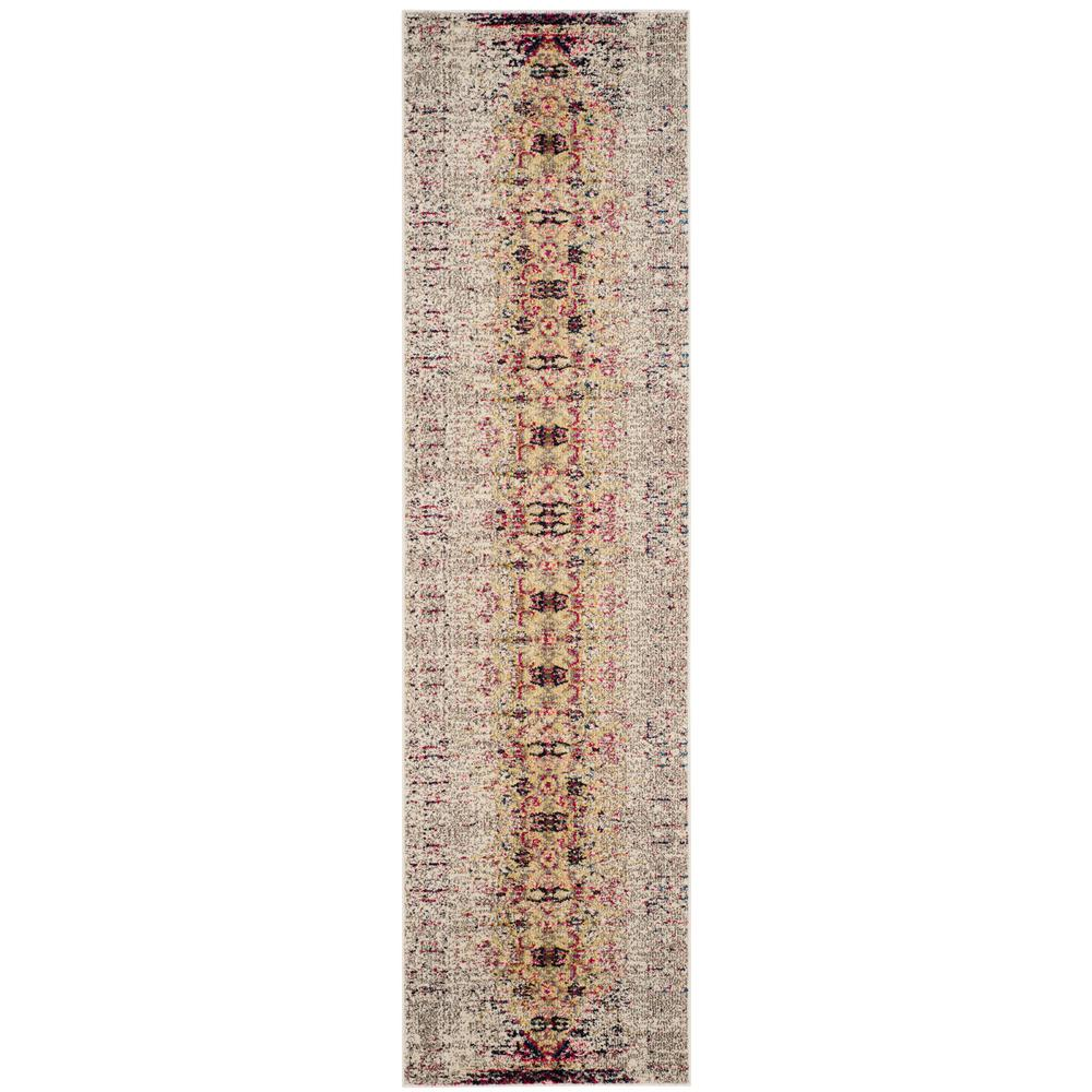Monaco Ivory/Pink 2 ft. 2 in. x 8 ft. Runner
