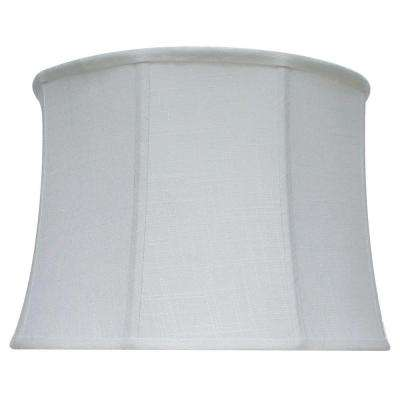 Cylindrical lamp shades lamps the home depot mix match white linen table shade mozeypictures Image collections