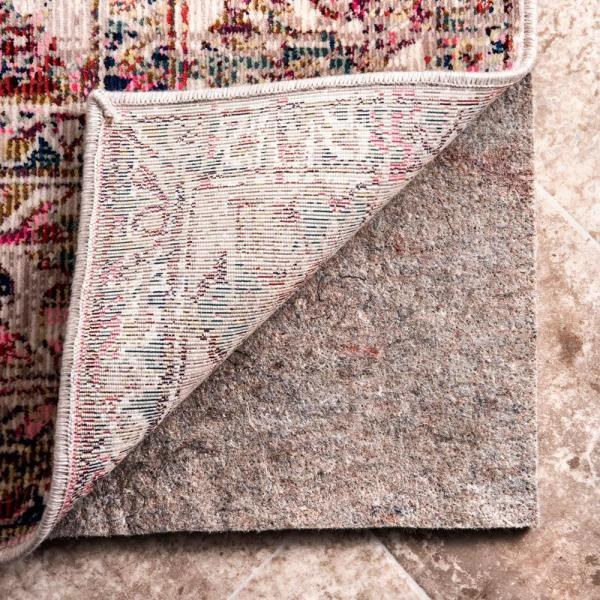 Geometric Non-Slip Grip 4 ft. x 6 ft. Rectangle Rug Pad