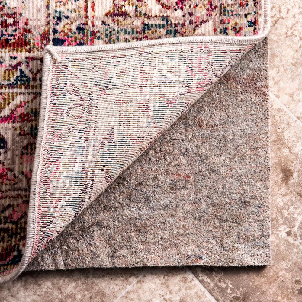 Geometric Non-Slip Grip 5 ft. x 8 ft. Rectangle Rug Pad