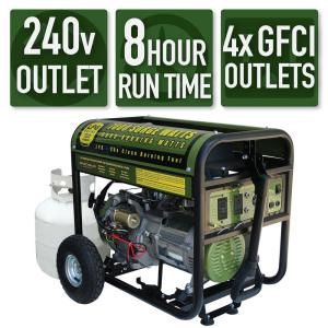 PowerStroke 6,000 Running Watt Gasoline Powered Portable Generator