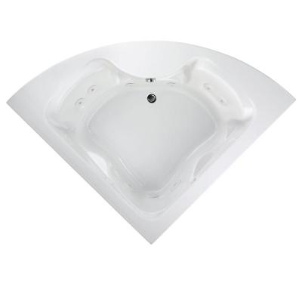 Cadet Everclean 85 in. Acrylic Rectangular Drop-in Whirlpool Bathtub in White