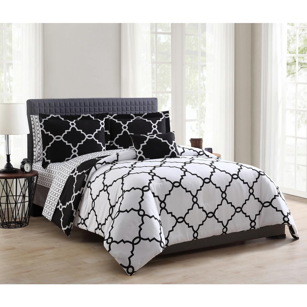 Allyson 8-Piece Black King Comforter Set