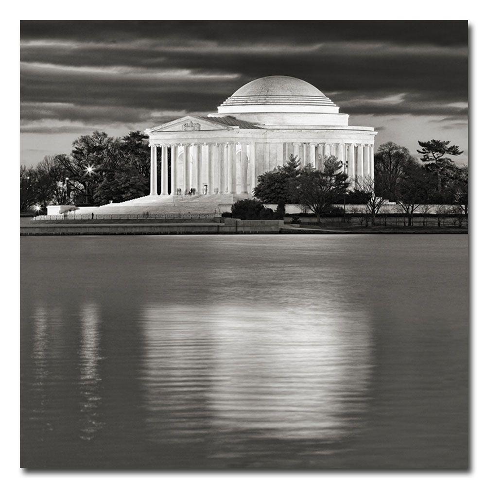 35 in. x 35 in. Jefferson Memorial - Night Canvas Art