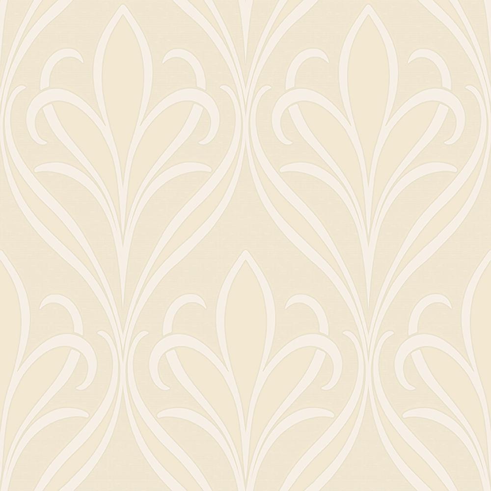 1da1d37b8 Advantage 8 in. x 10 in. Vivian Neutral Nouveau Damask Wallpaper Sample-2810-XSS0502SAM  - The Home Depot