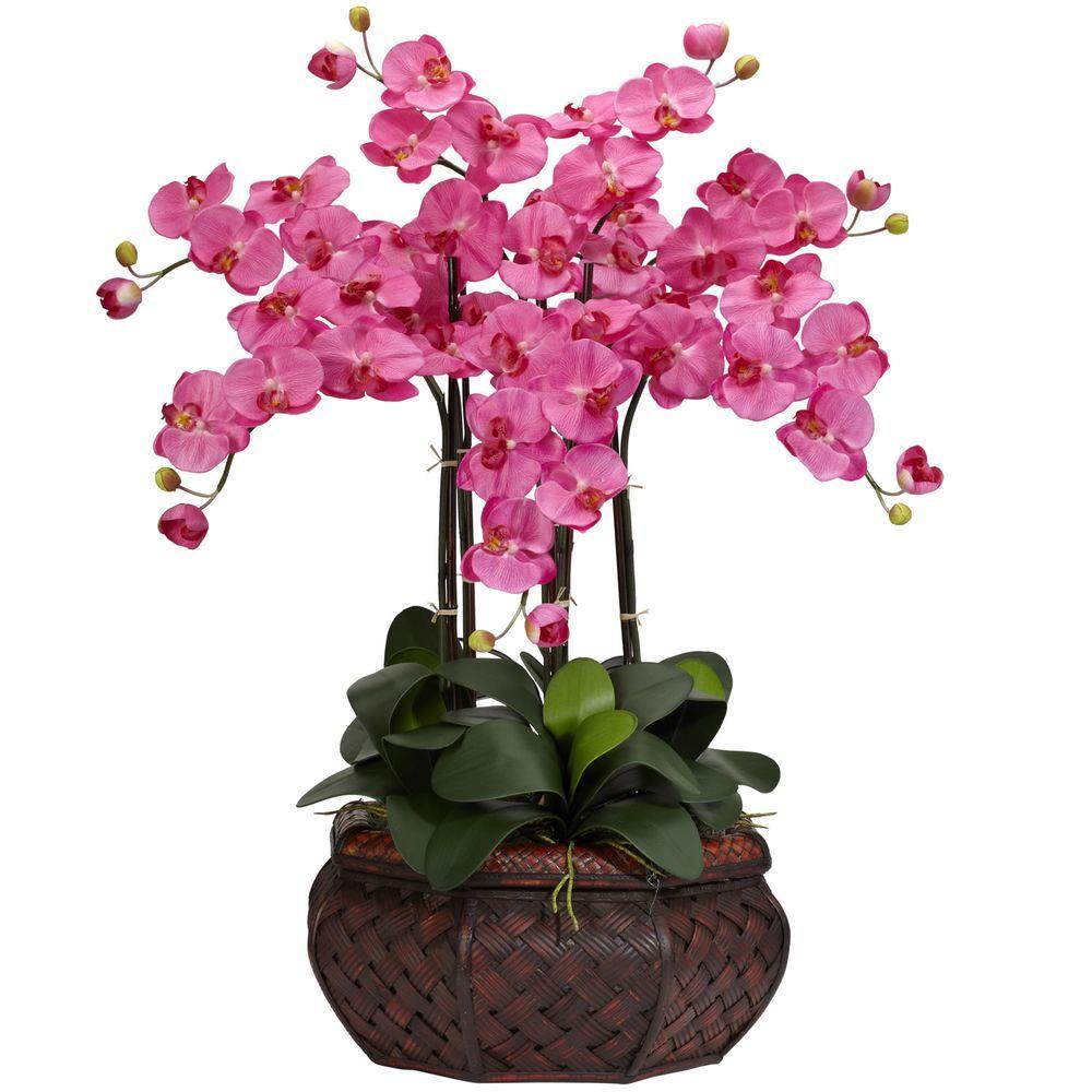 30 in h dark pink large phalaenopsis silk flower arrangement 1201 h dark pink large phalaenopsis silk flower arrangement mightylinksfo